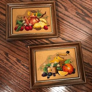 Other - Vintage | Retro Crewel Kitchen Framed Embroidery